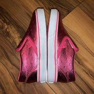 Vans girls metallic slip on flats 8